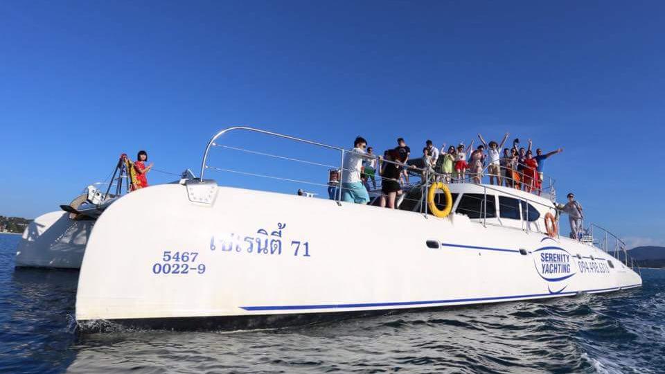 Excursions Luxe Catamaran Koh Phangan Samui Coucher De Soleil