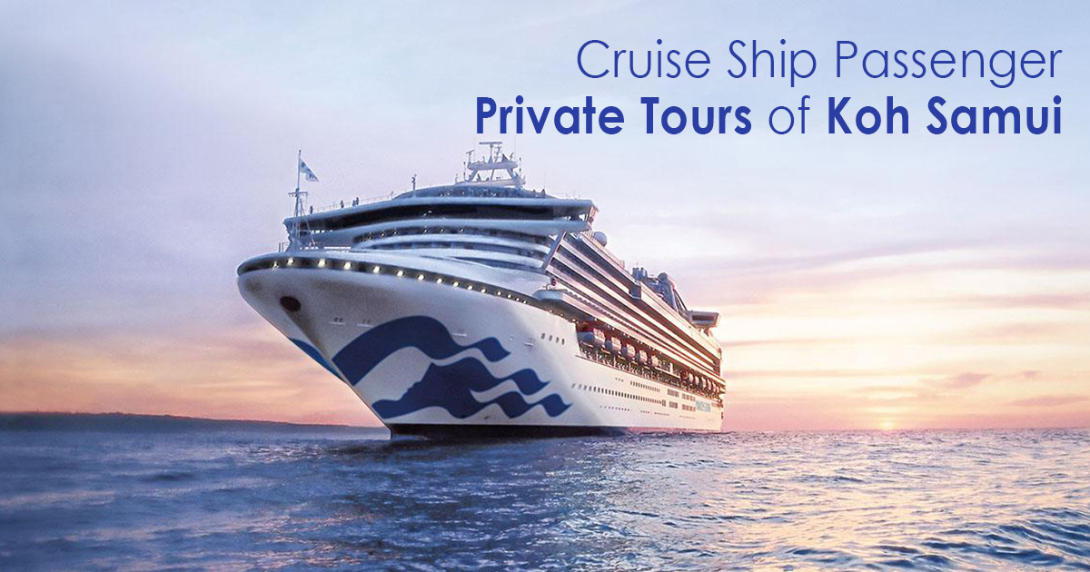 Cruise Ship Passenger Private Tours of Koh Samui Island