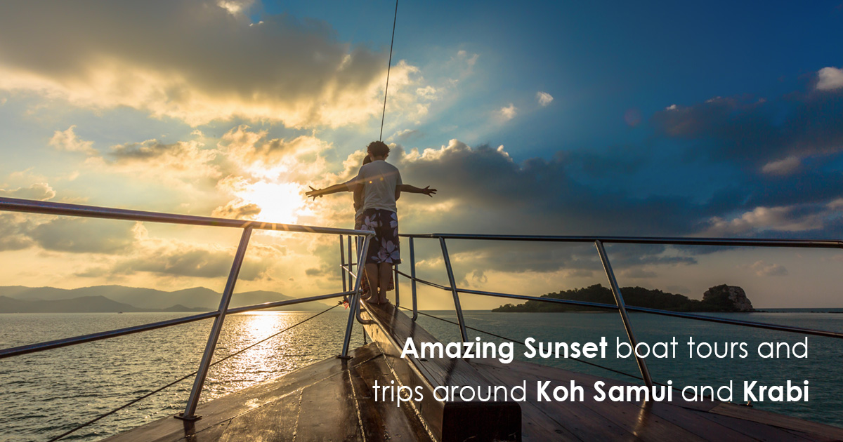 Amazing Sunset boat tours and trips around Koh Samui and Krabi