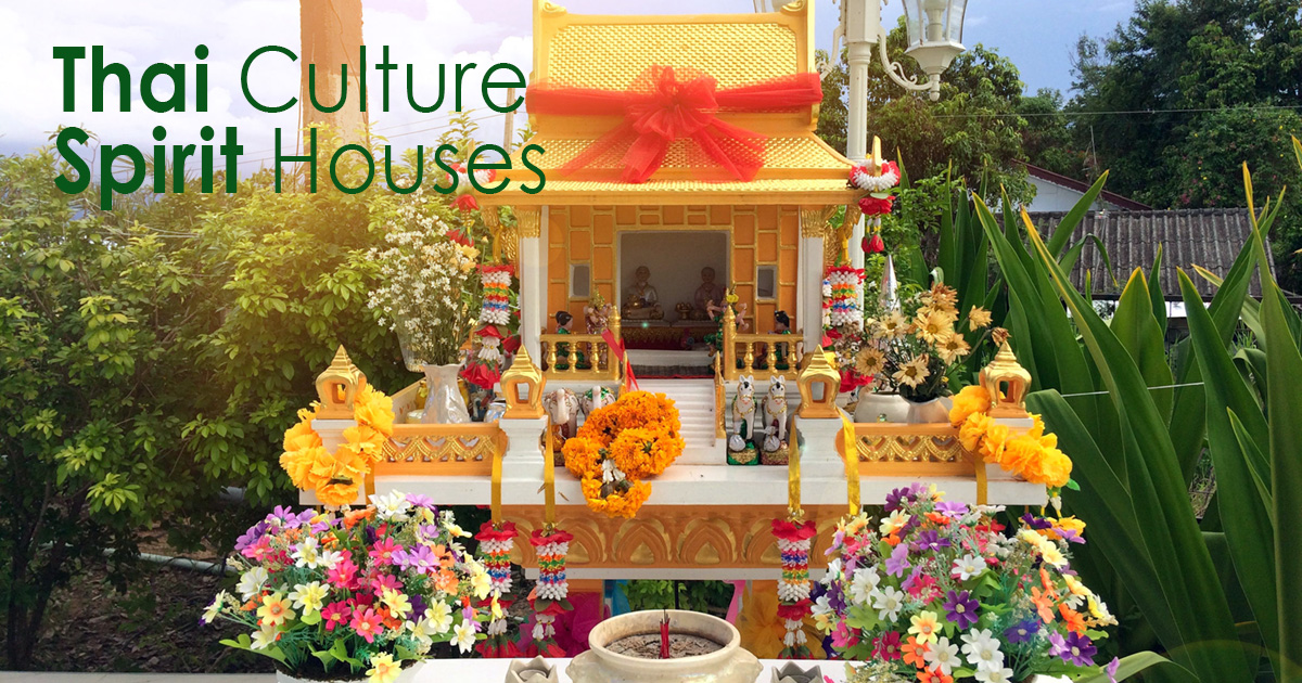 Thai Culture - Spirit Houses - a shrine to the a protective spirit!