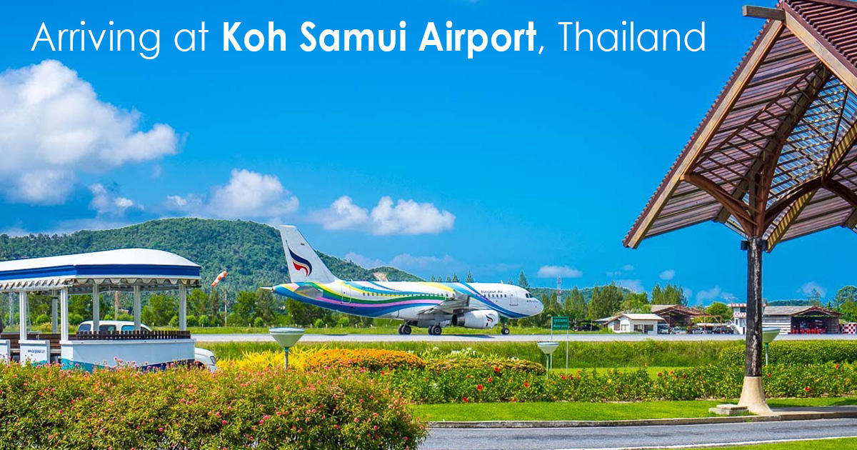 Arriving at Koh Samui Airport Thailand